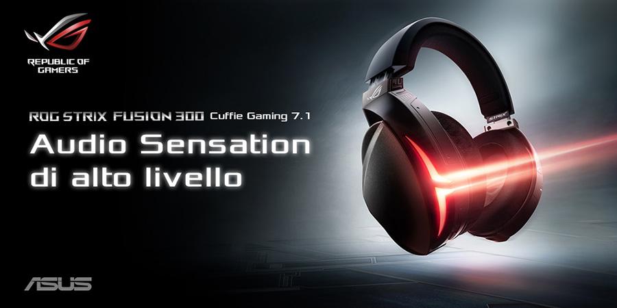 Asus ROG Strix Fusion 300 Cuffia con Microfono 7.1 USB Jack3.5 PC ... f1da0cb663e2